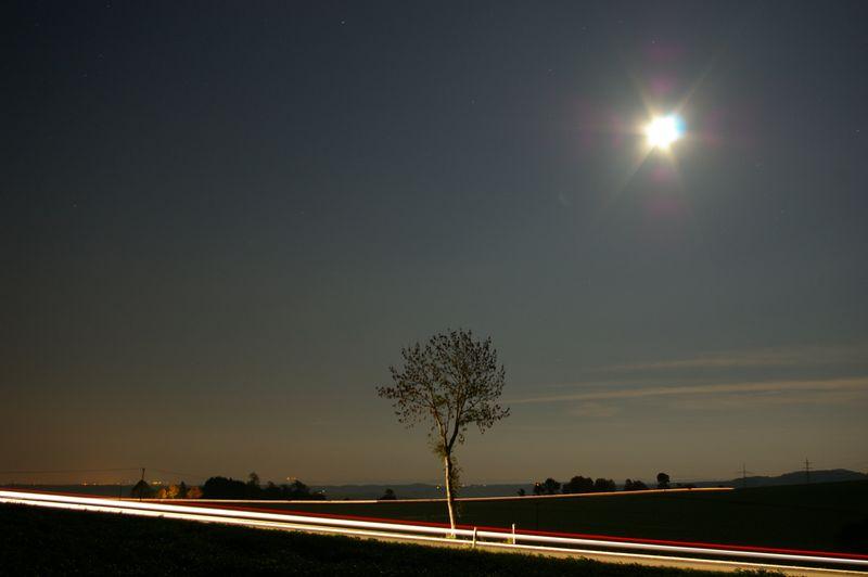 Lichtspiele in einer klaren Herbstnacht