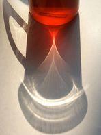 Lichtspiele mit einem Teeglas
