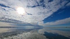 Lichtspiele von Wolken und Wasser