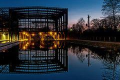 Lichtsterne im Wassergarten