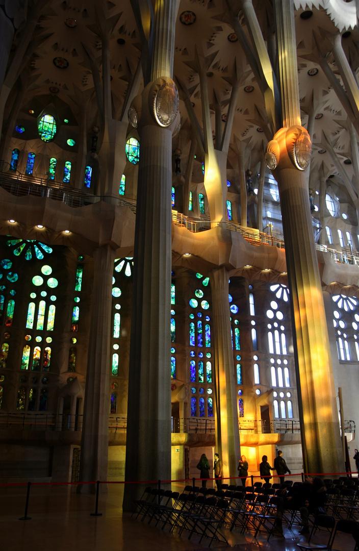 Lichtstimmung in der Sagrada Familia