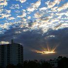 Lichtstrahlen am Morgen