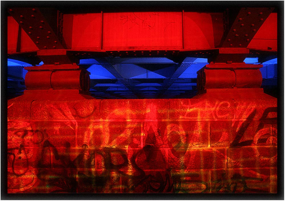 Lichttechnik für die Brücken-Disco