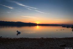 Lido della Schiranna, tramonto