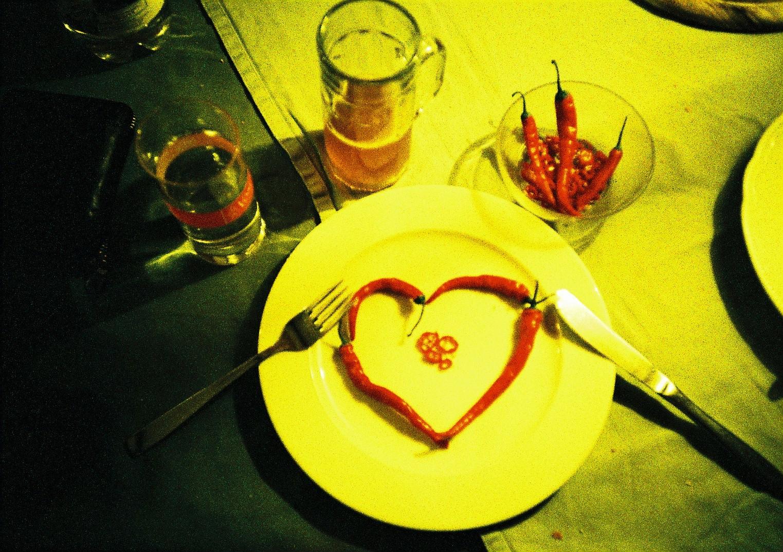 Liebe liegt auf dem Teller