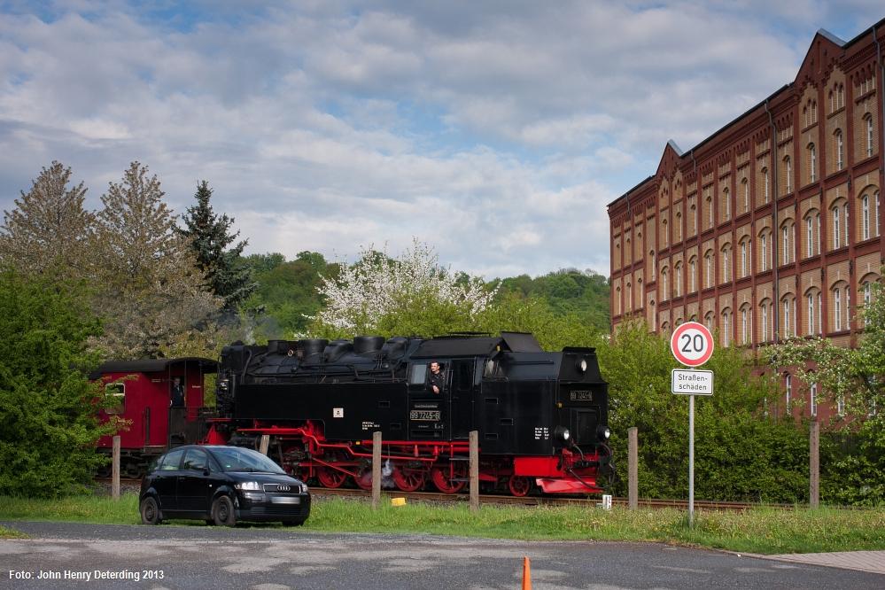 Lieber Bahn fahren.., Nordhausen Altentor, 99 7245, Mai 2013