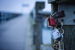 Liebesschlösser an der Seebrücke