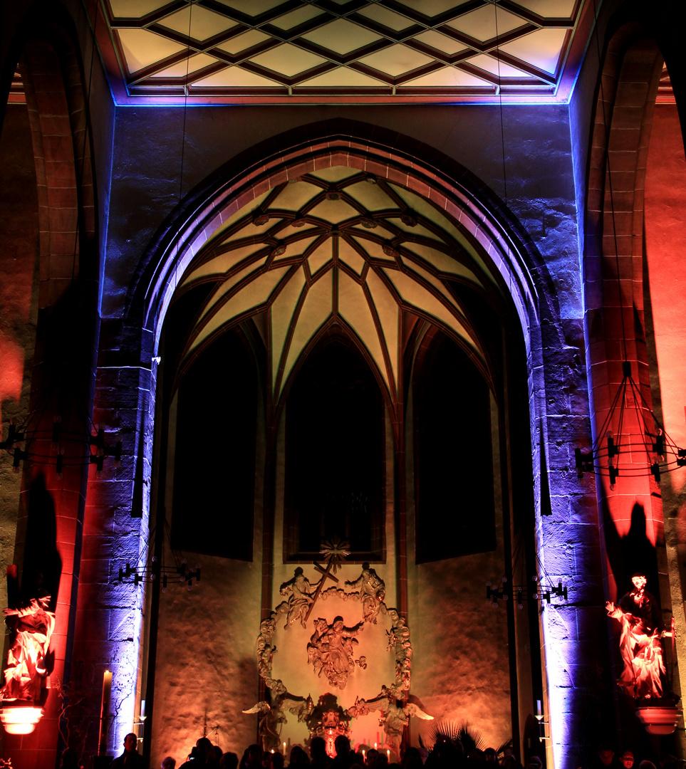Liebfrauenkirche Frankfurt zur Luminale 2012