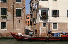 Lieferdienst in Venedig