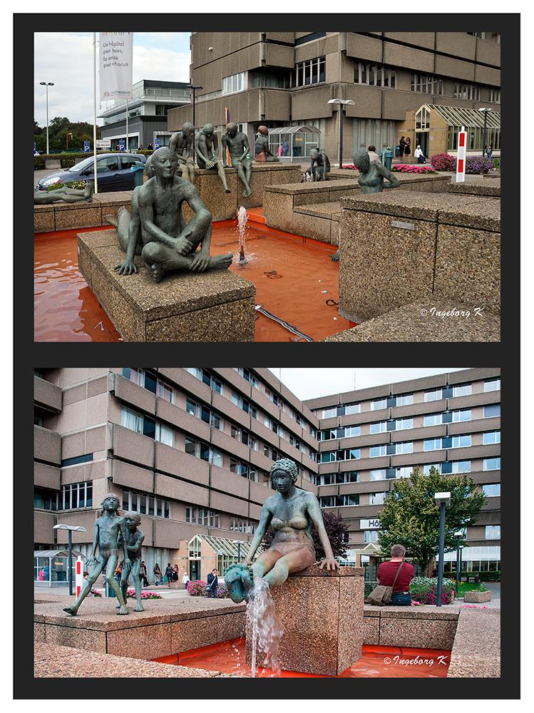 Liége - Brunnen am Kulturzenrum an der Rue-André-Dumont
