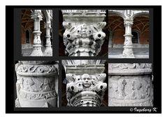 Liége - Fürstbischöflicher Palast - Innenhof - Säulen - Details