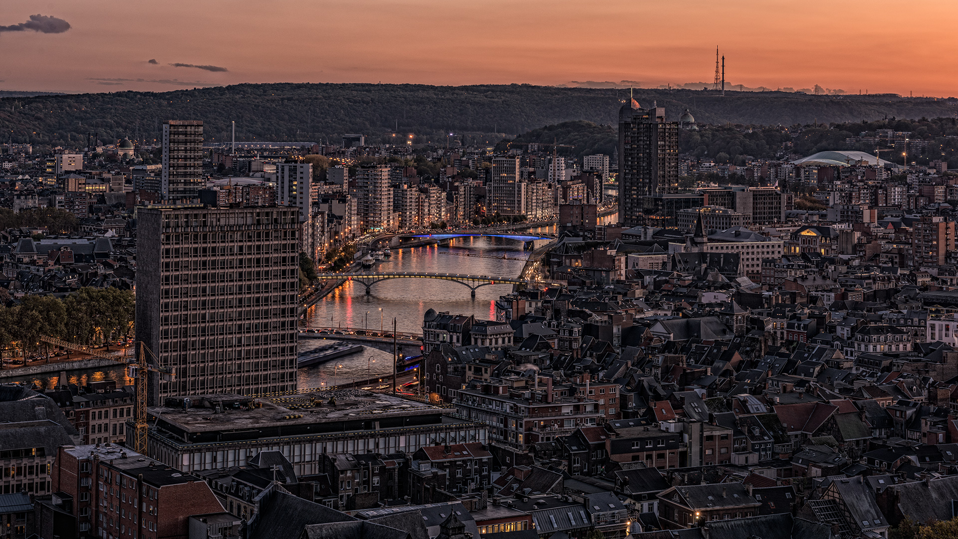Liège mit Blick auf die Maas