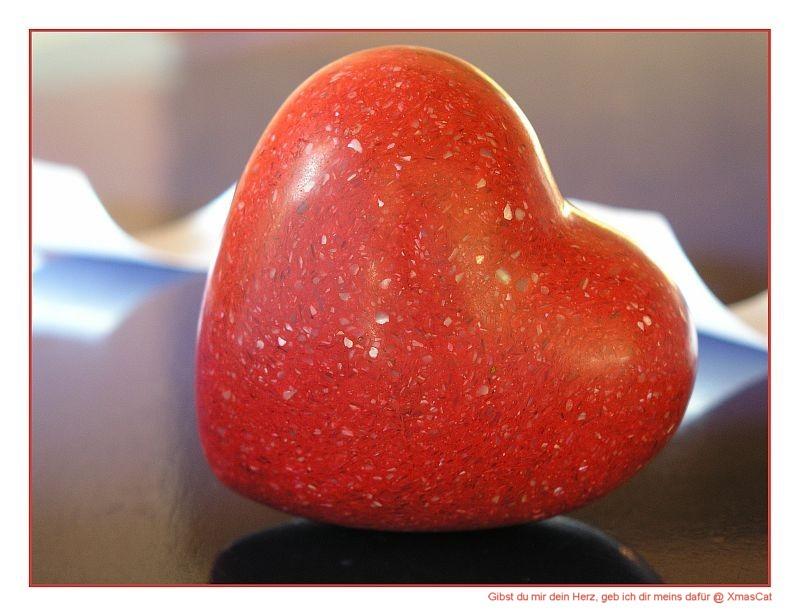 Liegendes Herz . liebendes Herz