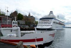 Liegeplatz der Aidacara in Oslo