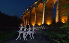 Lighpaintung und Lichtmalerei am Viadukt Altenbeken