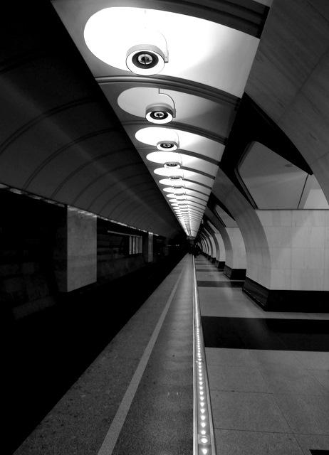 Light at metro station