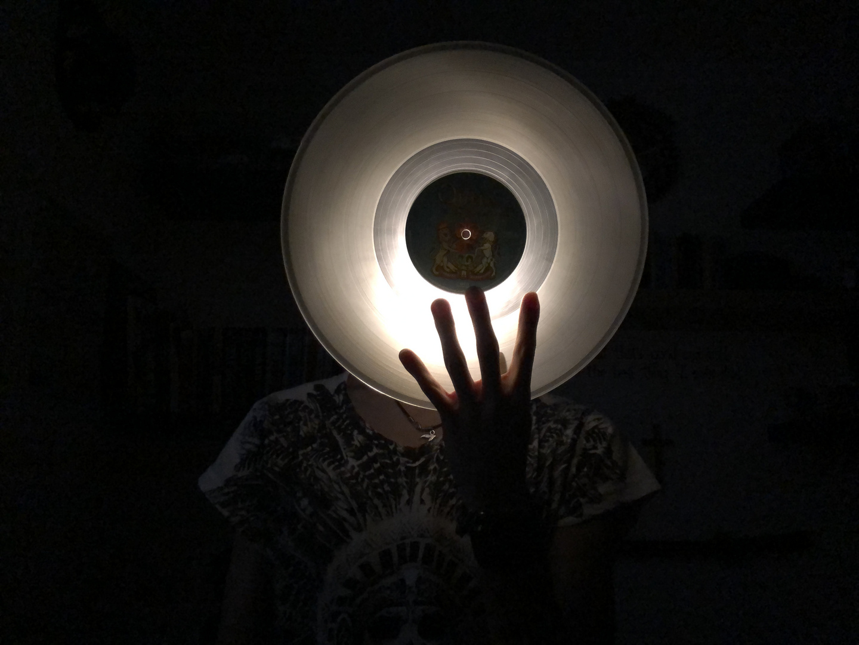 Light behind vinyl