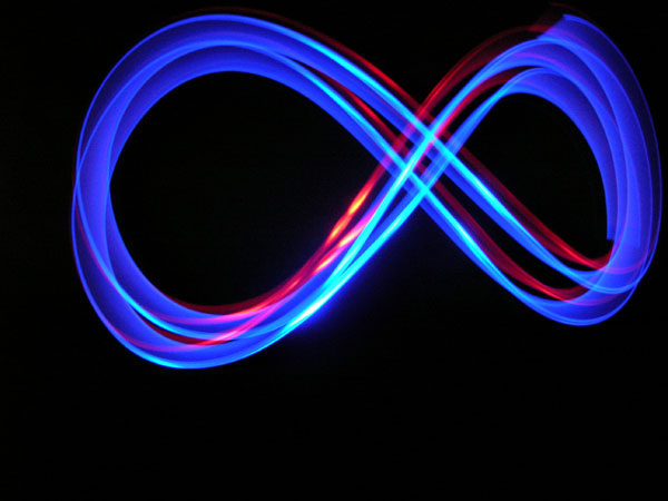light painting eternity symbol photo image abstract subjects