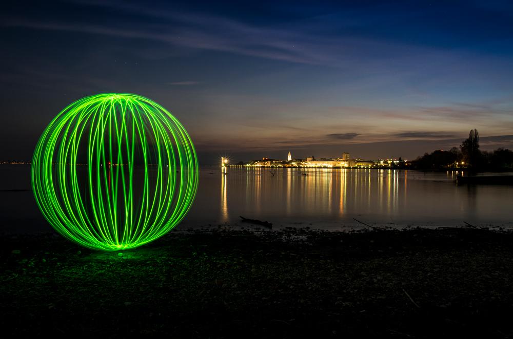 Lightart at the Lake