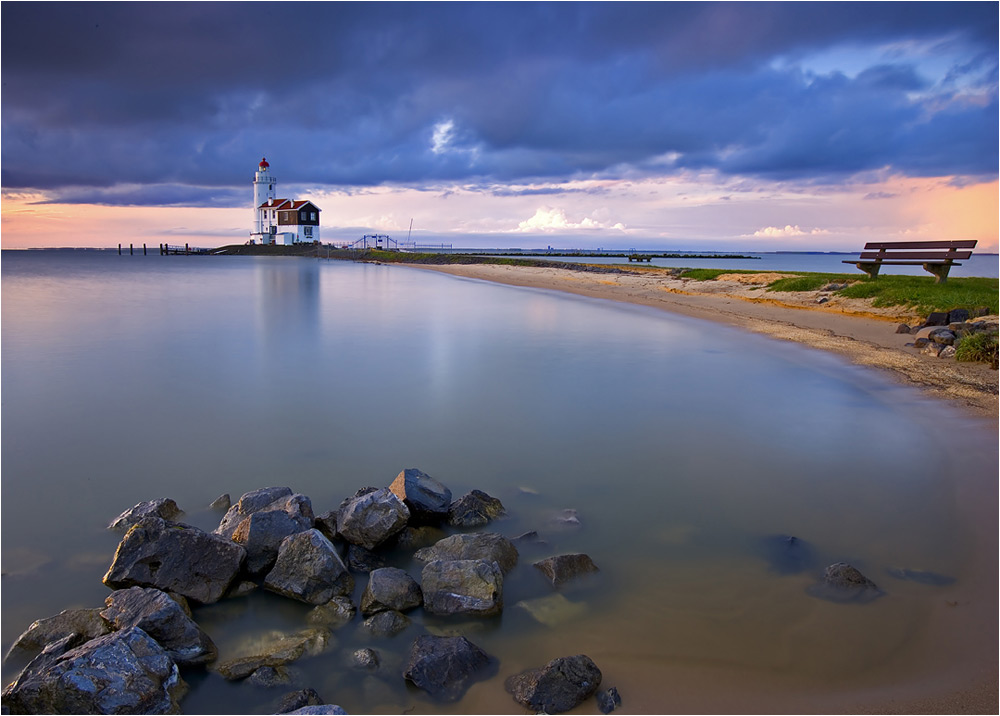 Lighthouse in Marken. Holland.
