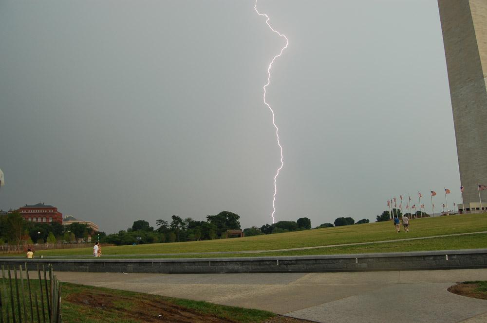 Lightning at Washington Monument