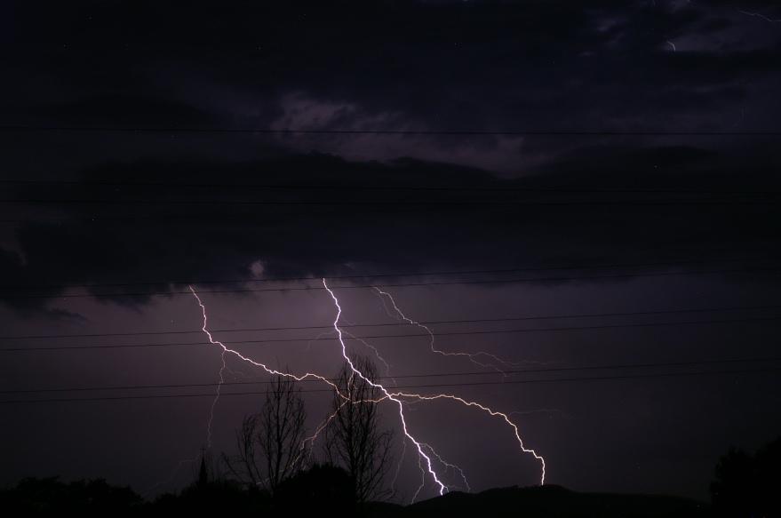 Lightning strikes !