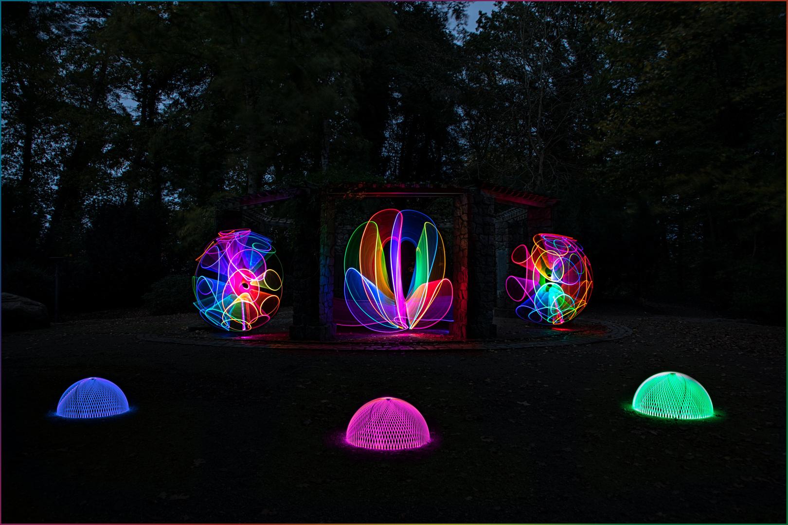 Lightpainting am Ehrenmal