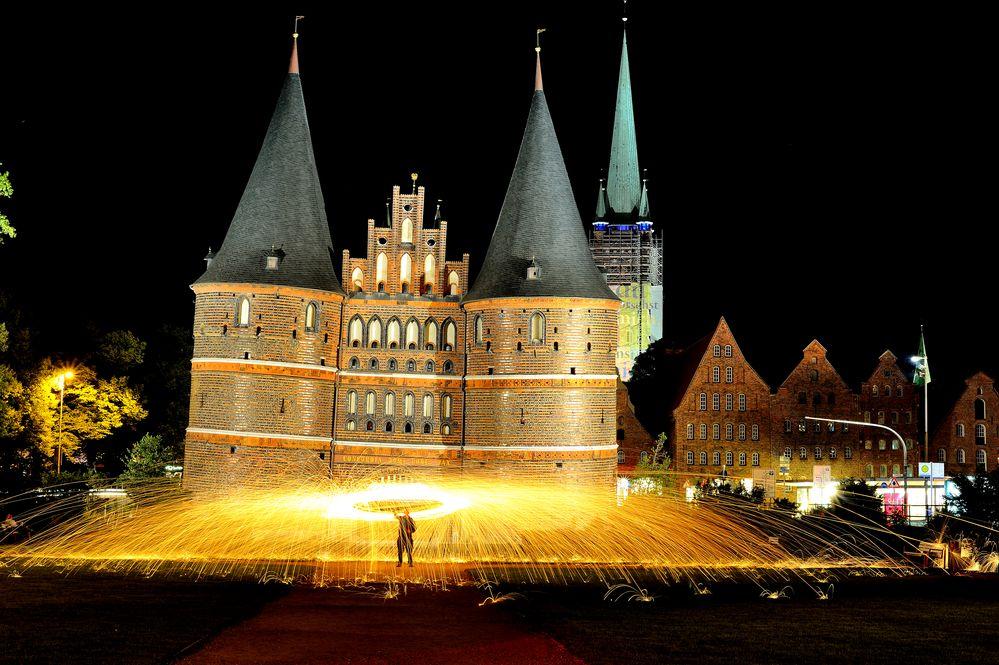 Lightpainting Lübecker Holstentor