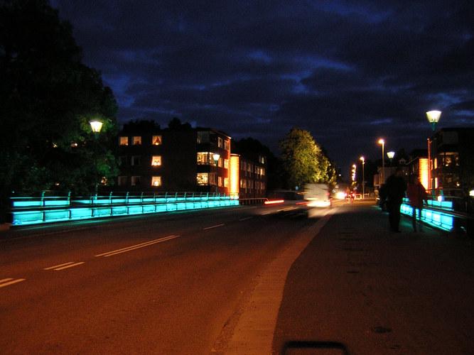 Lights in Alingsas --- Nyebrobridge