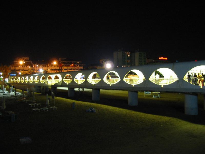Lignano Strand Bei Nacht Foto Bild Architektur Architektur