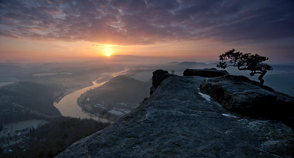 Lilienstein im Morgenlicht