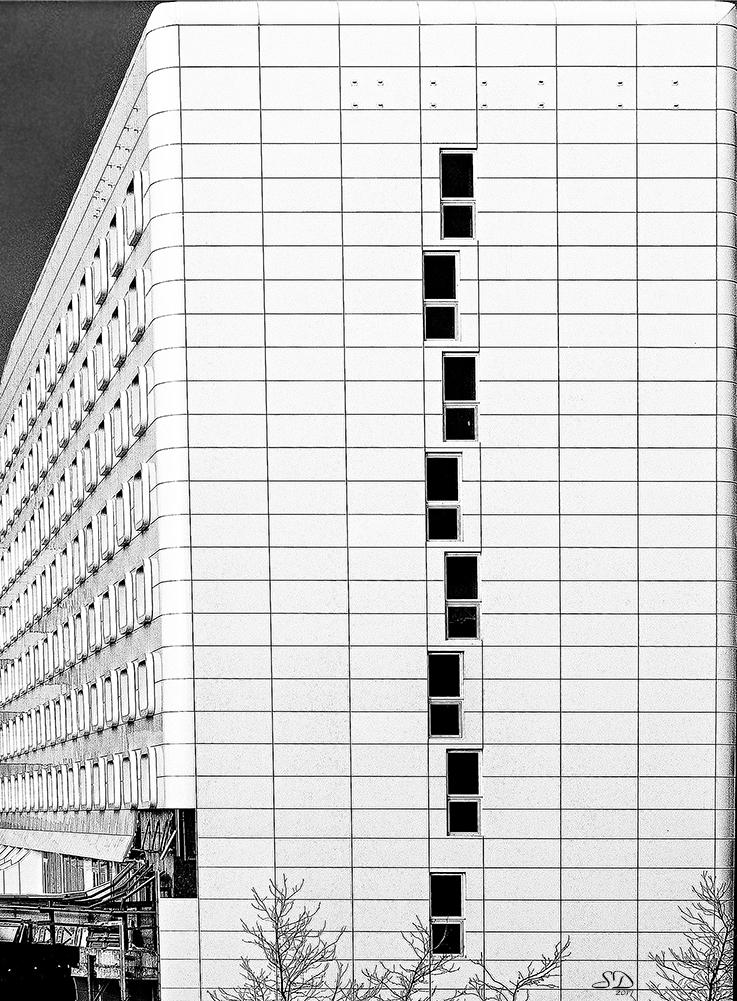 L'immeuble blanc .