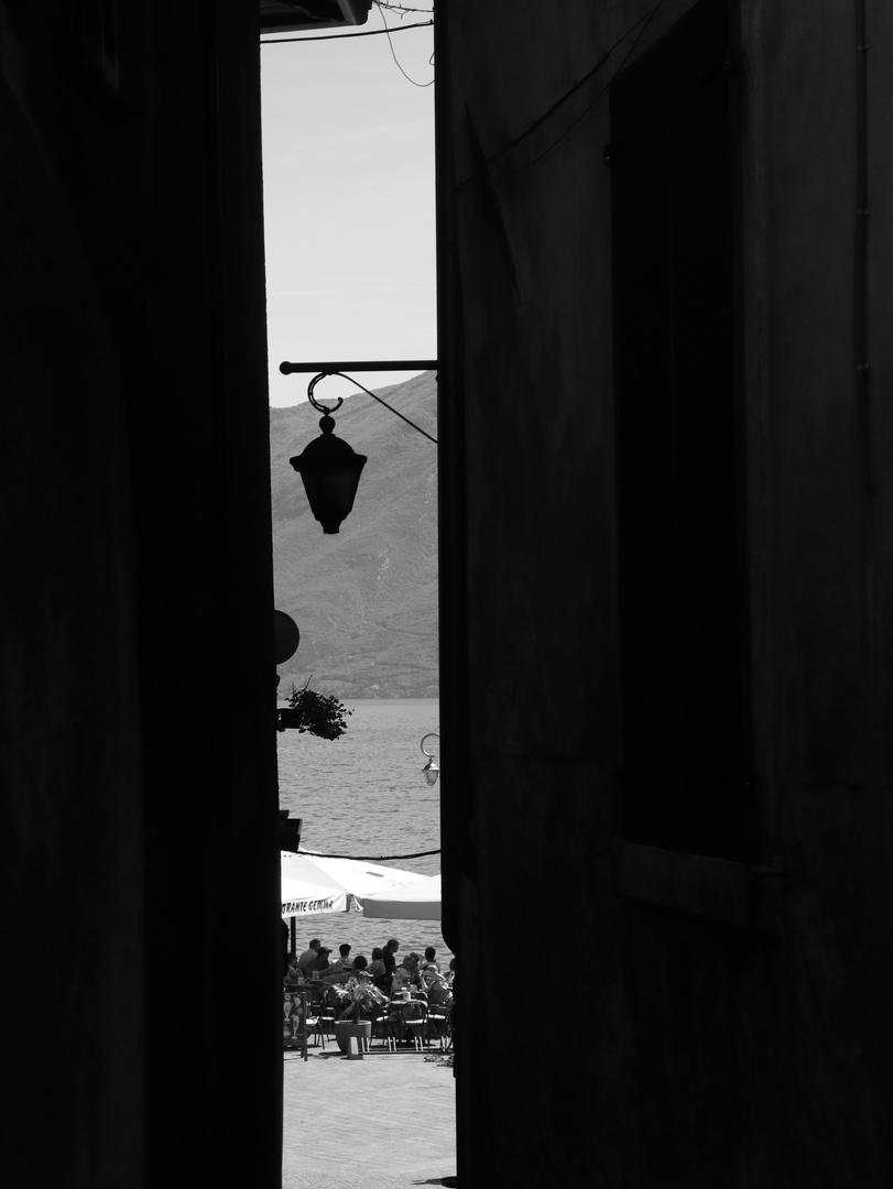 Limone am Gardasee an einem Sommerabend