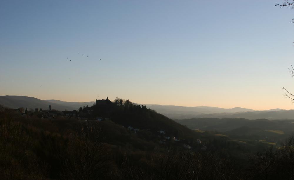 Lindenfels/Odenwald am frühen morgen.