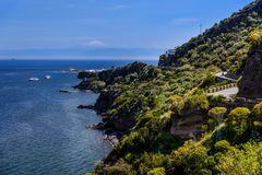 Lingua gegen Ätna, Salina, Liparische Inseln, Sizilien