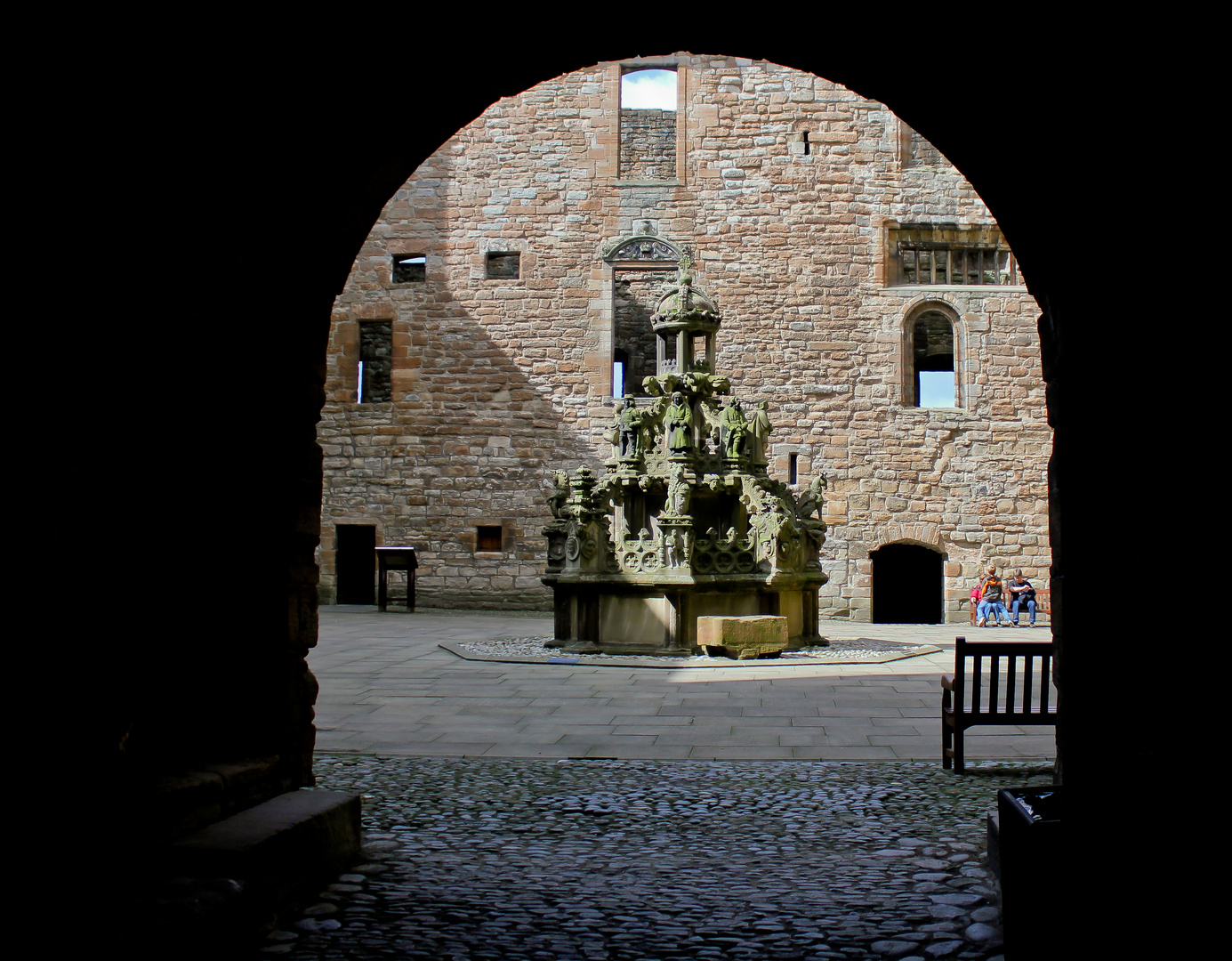 Linlithgow Palace from the main gate