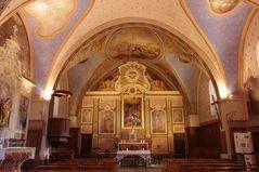 L'intérieur de l'église de Villeneuvette (Héraut)