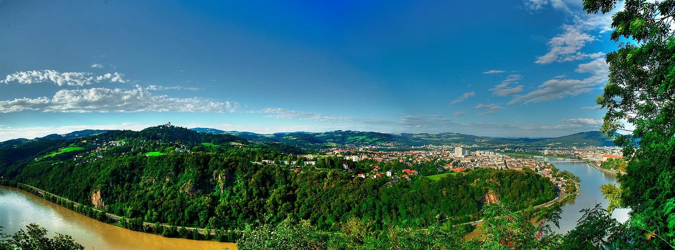 Linz vom Freinberg aus gesehen