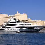 LIONHEART  90 mt. yacht - in La Valletta Harbour - Malta