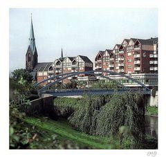 Lippebrücke mit Marienkirche; Lünen