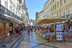 Lissabon, auf der Rua Augusta