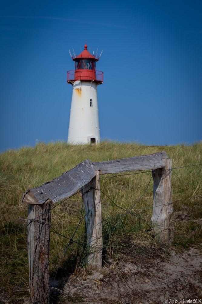 List West Leuchtturm mit Zaun