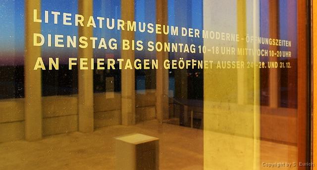LITERATURMUSEUM DER MODERNE - ÖFFNUNGSZEITEN