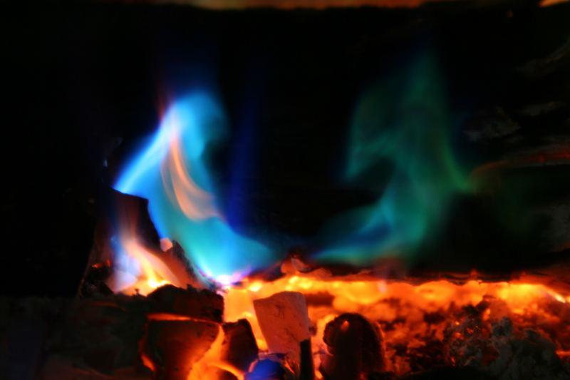 little blue flame