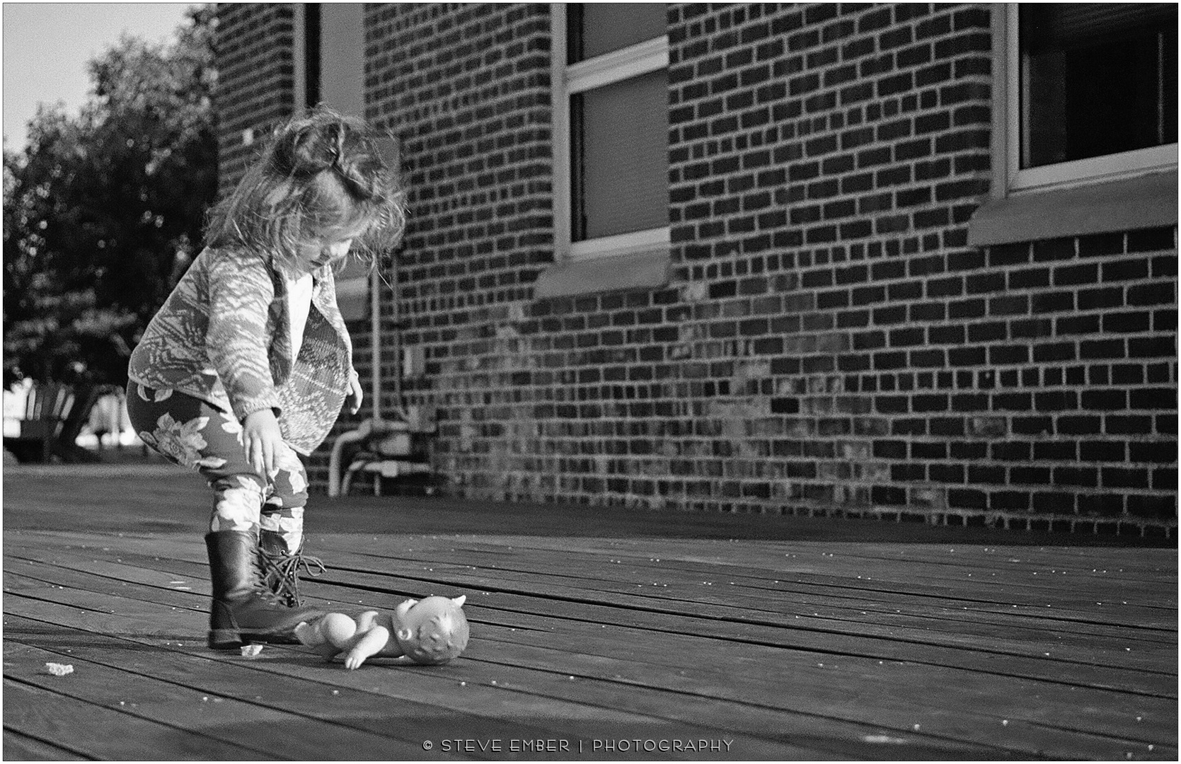 Little Girl and Doll - A Tide Point Moment