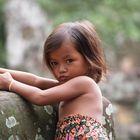 Little girl at Angkor Wat Cambodia.