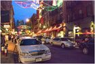 Little Italy abends in New York