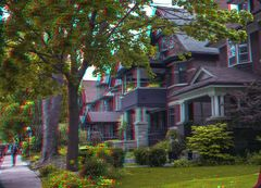 Little Italy, Toronto Anaglyph 3-D