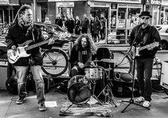 live music on king street, hammersmith, london, united kingdom