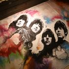 Liverpool Matthew Street Rubber Soul Cafe Beatles Cover Painting nachts